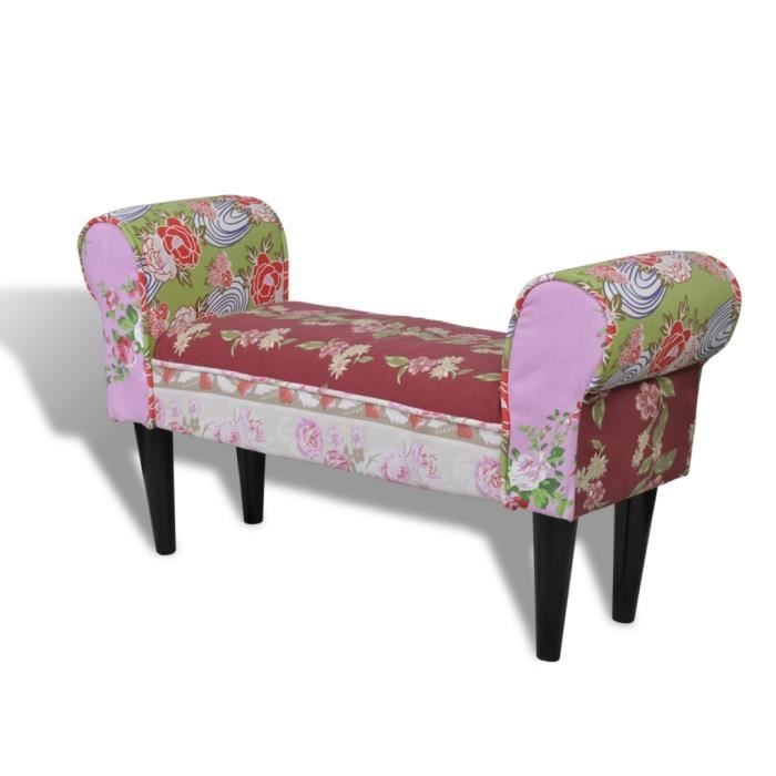 fauteuil banc imprim patchwork achat vente fauteuil cdiscount. Black Bedroom Furniture Sets. Home Design Ideas