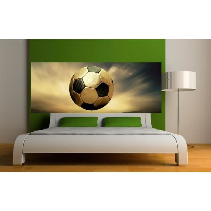 stickers t te de lit d co ballon de foot dimensions. Black Bedroom Furniture Sets. Home Design Ideas