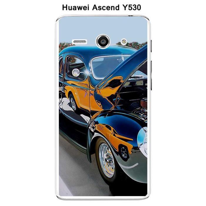 Coque Huawei Ascend Y530 design Voiture americaine Noire