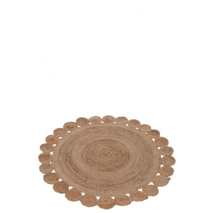 tapis rond jute naturel 120x120x0cm achat vente tapis cdiscount. Black Bedroom Furniture Sets. Home Design Ideas