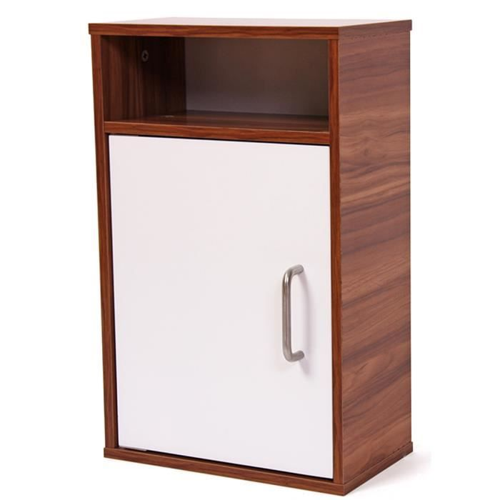armoire en bois avec 2 tag re avec 1 porte dim h32 x l18 x p51 cm achat vente armoire de. Black Bedroom Furniture Sets. Home Design Ideas