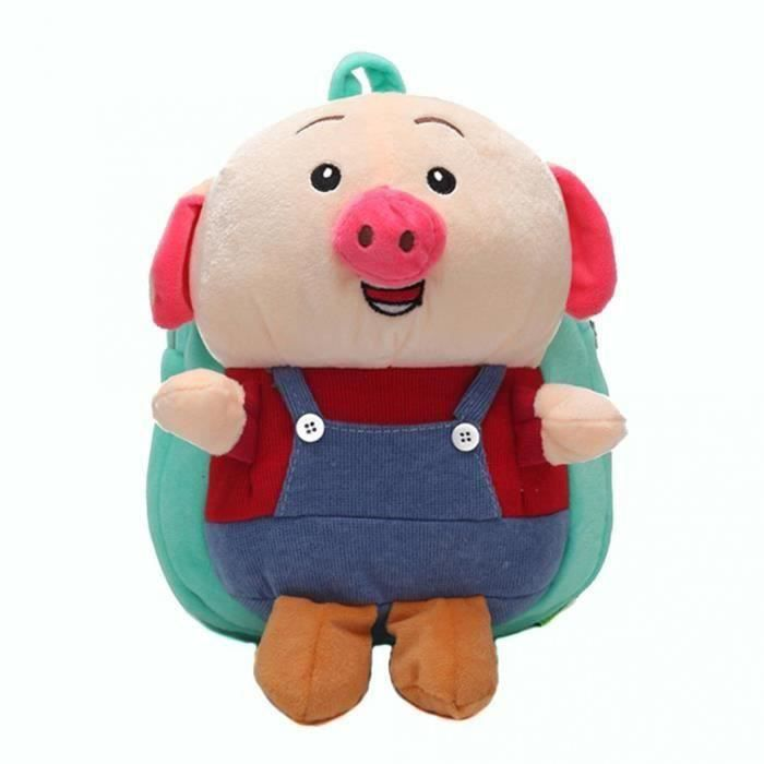 Dessin Animé 3d Cochon Kawaii En Peluche Sac à Dos Enfants Garçon Fille Sac Décole Maternelle Bleu Clair T0204f