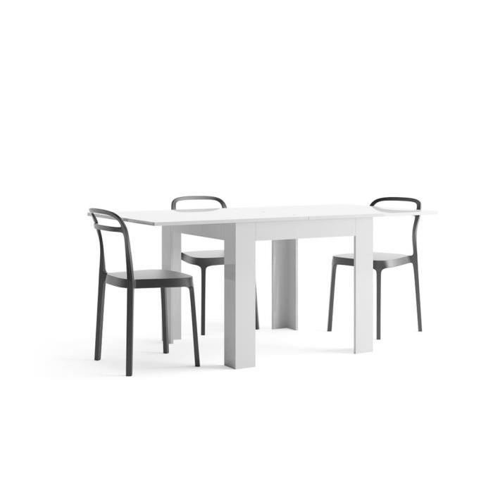 TABLE À MANGER SEULE Mobilifiver Table extensible, Eldorado, Blanc bril