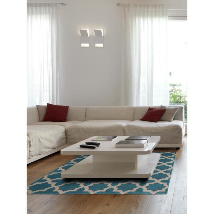 benuta tapis arabesque bleu 150x150 cm achat vente. Black Bedroom Furniture Sets. Home Design Ideas