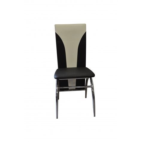 lot de 4 chaises silvia noir et blanc achat vente chaise cdiscount. Black Bedroom Furniture Sets. Home Design Ideas