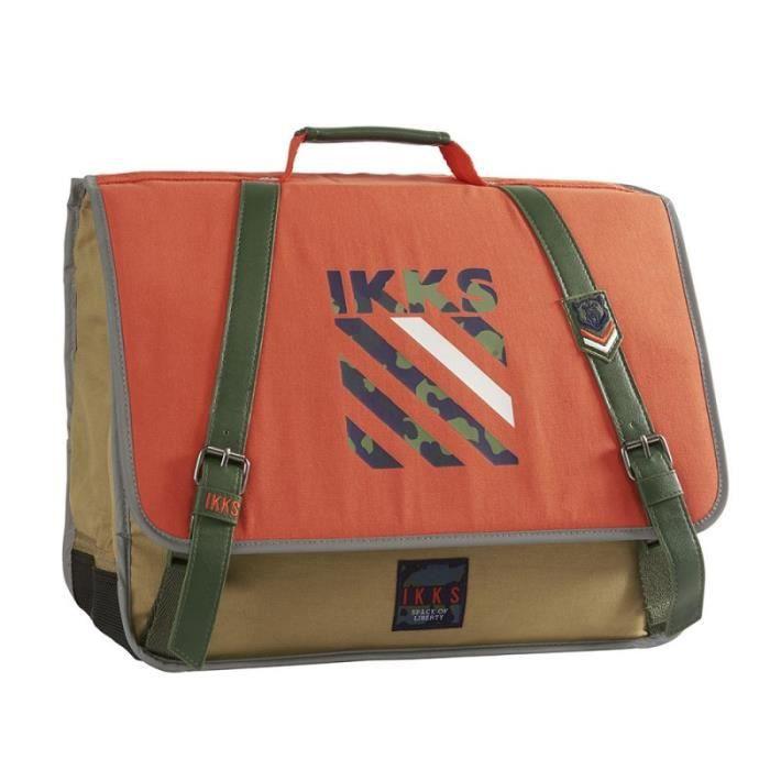 "CARTABLE Cartable IKKS 41 cm ""Army"" - orange"