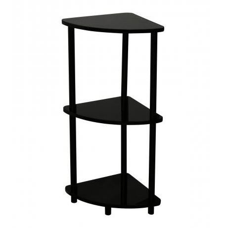 etagere d 39 angle verny coloris noir achat vente meuble tag re etagere d 39 angle verny noir. Black Bedroom Furniture Sets. Home Design Ideas