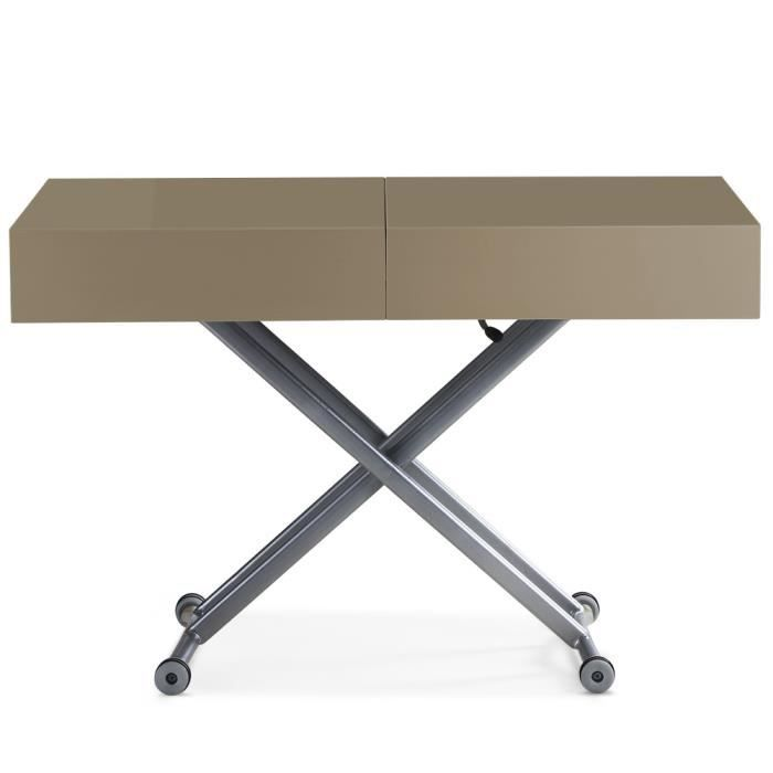 Table basse transformable avec rallonge - Table relevable avec rallonge ...