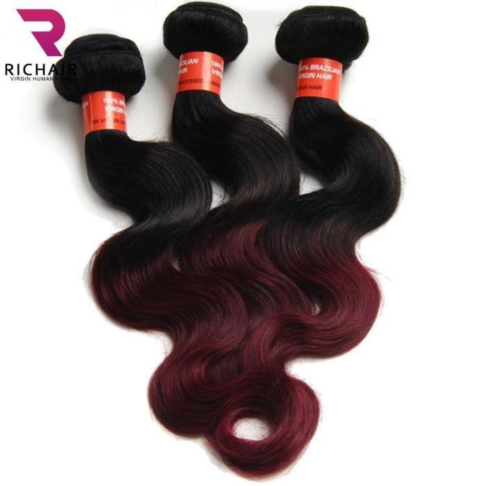 PERRUQUE - POSTICHE RICHAIR 3 Tissages Brésilien Cheveux Body wave Ext