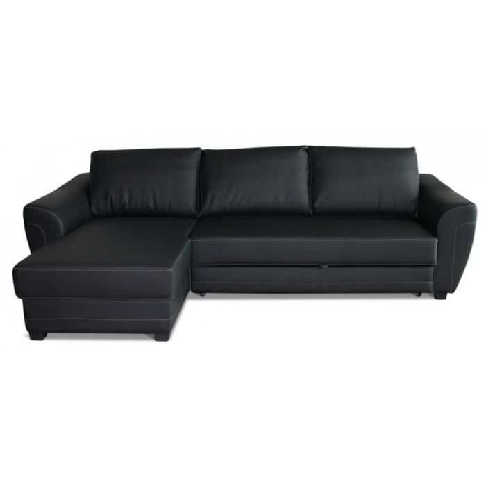 Canap lit d 39 angle lissio achat vente canap sofa for Canape lit d angle