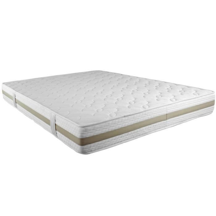 matelas mousse 160 200 blanc beige perle des achat vente matelas cdiscount. Black Bedroom Furniture Sets. Home Design Ideas