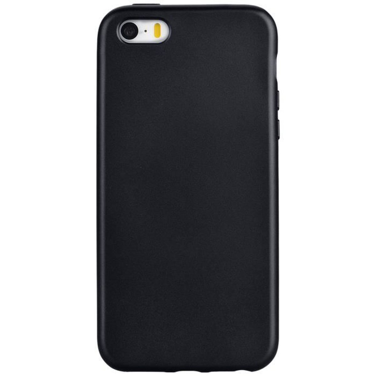 coque iphone 5s noir gel silicone flexible doux ca