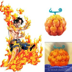 POUPÉE One Piece Fruit du Démon Ace Brûlant Fruit Figurin