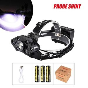 LAMPE DE POCHE PROBE SHINY 1x XM-L T6 LED + 6x Kit de phares rech