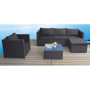 canape modulable resine tressee achat vente canape modulable resine tressee pas cher cdiscount. Black Bedroom Furniture Sets. Home Design Ideas