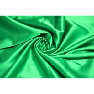 TISSU Tissu Satin Elasthanne Vert -Au Mètre