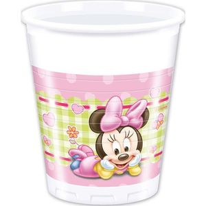 Décors de table 16 GOBELETS 20CL BABY MINNIE
