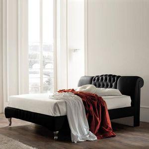 STRUCTURE DE LIT Lit design Sandra - 160x200 - Noir