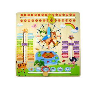 JEU D'APPRENTISSAGE WoodyWood Horloge d'apprentissage pour Enfant en B
