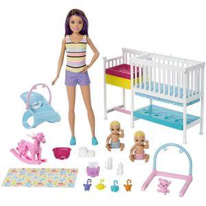 POUPÉE Barbie Famille coffret Chambre des jumeaux, poupée