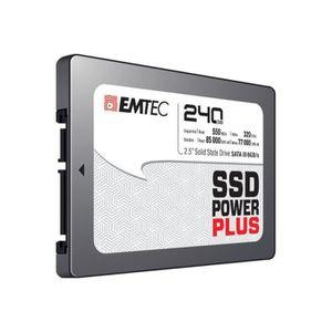 DISQUE DUR INTERNE EMTEC SSD Power Plus - Disque SSD - 240 Go - inter