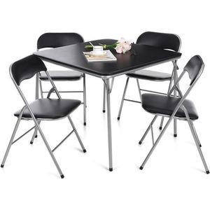 TABLE DE CUISINE  iKayaa - Ensemble table et chaises à manger pliant