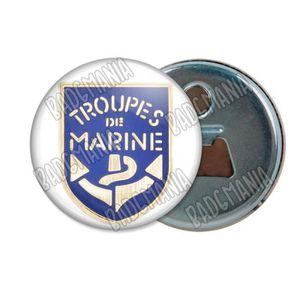 Badge 25mm Bouton Epinglette Troupes De Marine Ancre Jaune