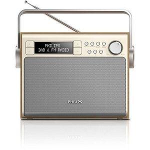 RADIO CD CASSETTE PHILIPS AE5020 RADIO TUNER AM/FM/DAB MARRON…