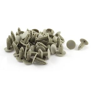 sourcingmap Trou de 8.5mm Dia Tige-Poussoir Fixation Pare-chocs Agrafes Clips Rivet Plastique 50 Pcs