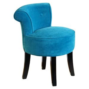 petit fauteuil carrousel velours turquoise achat vente. Black Bedroom Furniture Sets. Home Design Ideas
