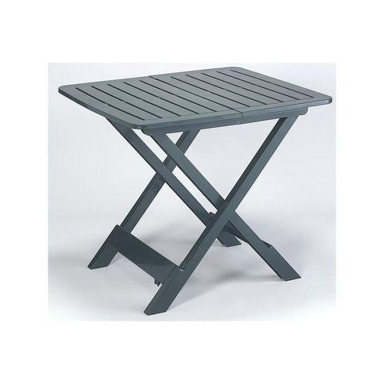 Table pliante carree tevere ref 407404 verte - Achat / Vente ...