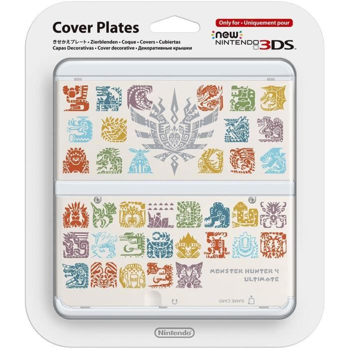 Coque Monster Hunter 4 Blanche New Nintendo 3DS