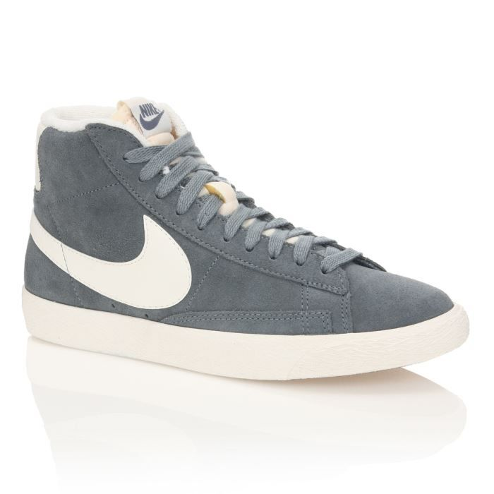 nike baskets cuir blazer mid suede vintage femme femme gris blanc achat vente nike baskets. Black Bedroom Furniture Sets. Home Design Ideas
