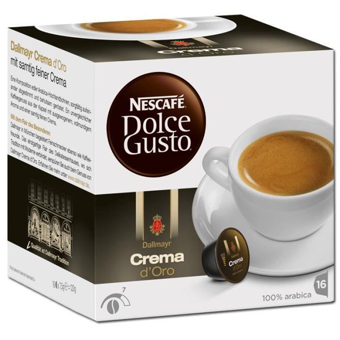 Nestlé Dolce Gusto Dallmayr Crema d'Oro, Café, Café mélangé, Boîte de 16 capsules