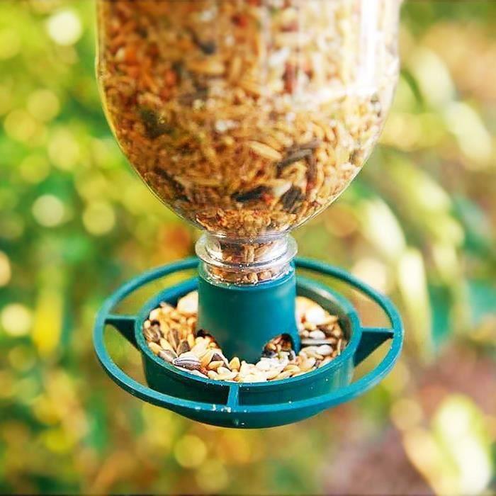 Parkland Pack de 2 biberons suspendus Kit mangeoire à oiseaux-recycler bouteilles de boissons.