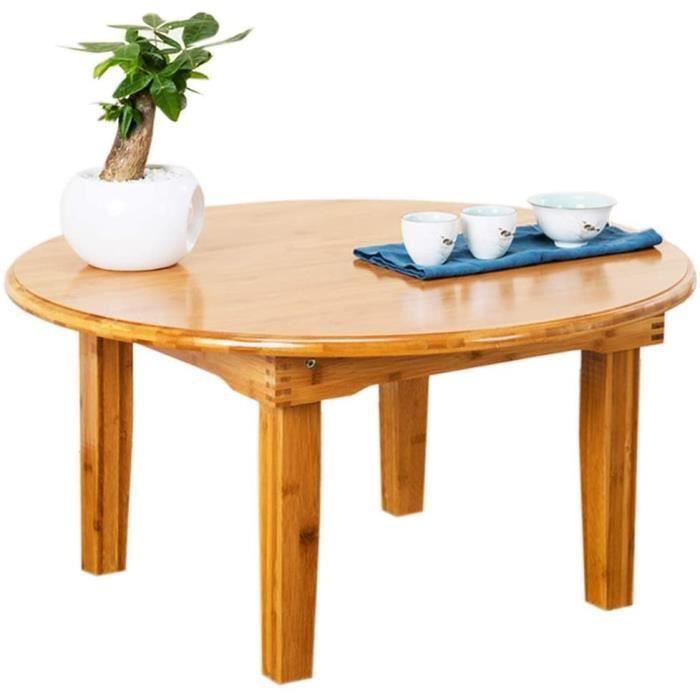 LIQIN Tables Basses Table d'appoint Ronde Table Basse Table Pliante Grande capacité Table Basse rétro Salon Balcon Petit Apparte196