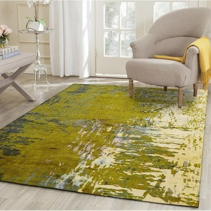 Décor à la maison Creative Tapis Tapis Style De La Peinture À L'huile Style Européen Et Américain De Style Polyester Tissu Rectangle