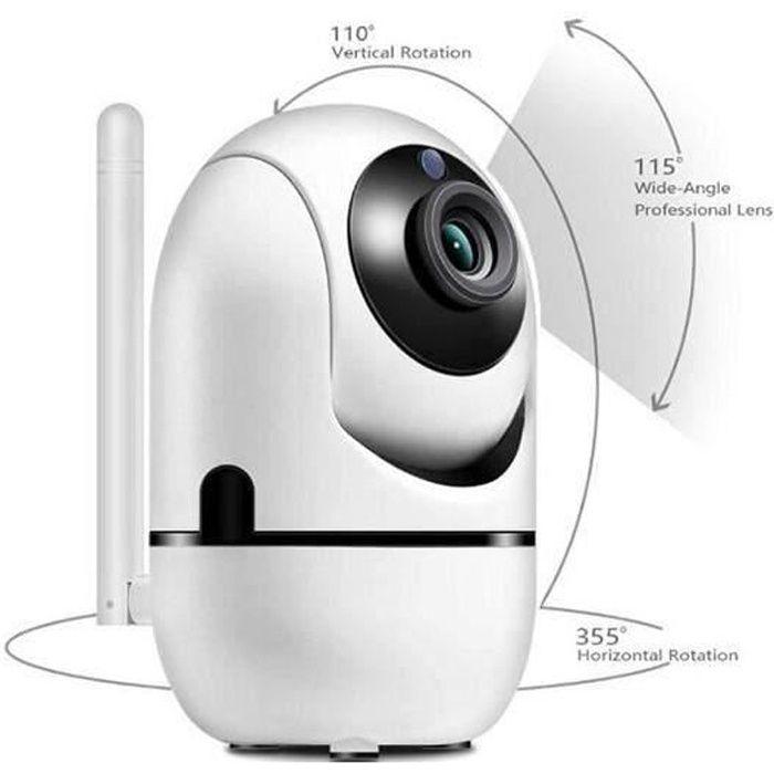 Babyphone vidéo Wi-Fi caméra Caméra vidéo HD avec détecteur de mouvement automatique à vision de nuit blanc RF:Z163 baby monitor