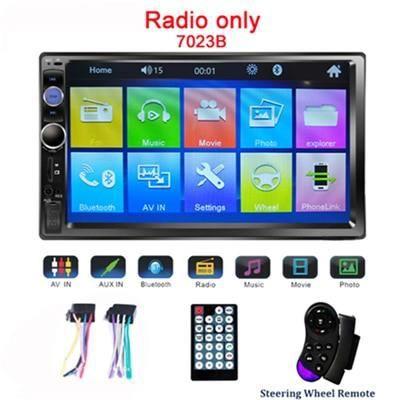 Hikity 2din Autoradio lien miroir Android Autoradio multimédia MP5 lecteur 7 ''HD écran tactile Bluetooth - Type 7023B Radio Only