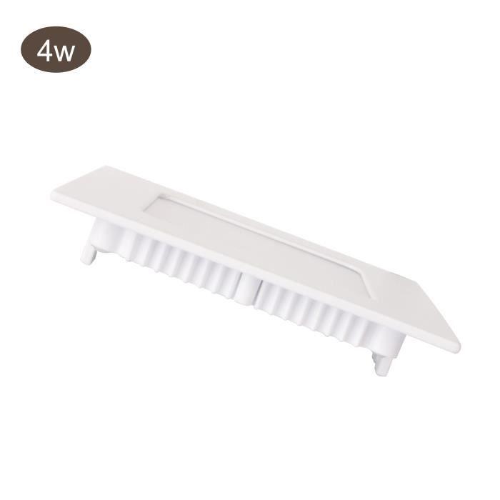 Spot LED Carré Encastrable 4W 6000K Blanc Froid Extra Plat Downlight LED Encastré 320LM 120° SMD2835 Epistar
