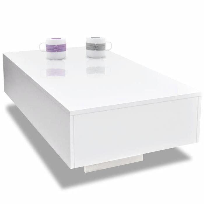 117208 - Design Furniture - Table basse Scandinave - Bout de canapé Table à thé Haute brillance Blanche
