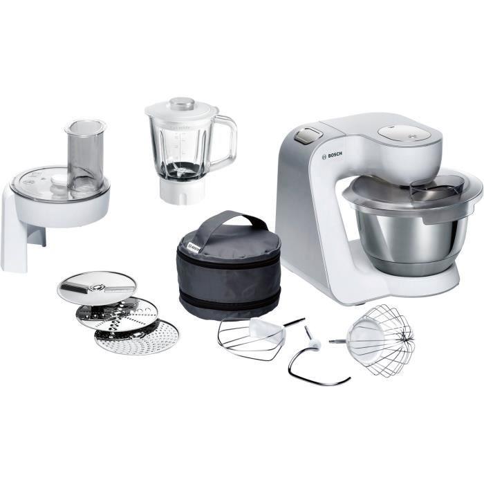 Bosch Robot de cuisine MUM58227 robot de cuisine 3,9 L Argent, Blanc 1000 W