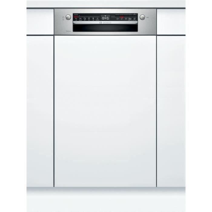 bosch - lave-vaisselle 45cm 9c 46db a+ intégrable avec bandeau inox - spi2hks59e