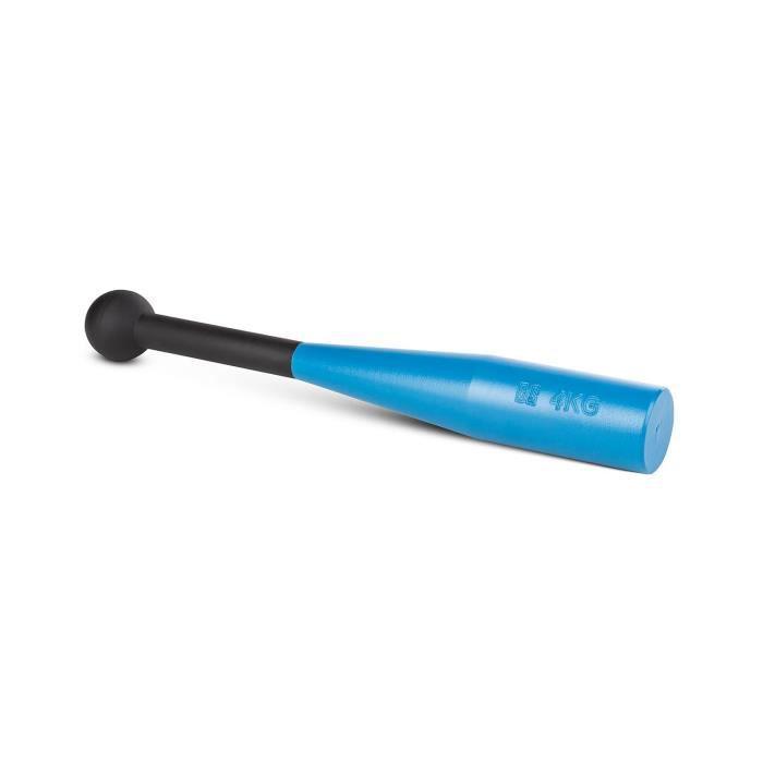 CAPITAL SPORTS Bludgeon Clubbell Massue de musculation métal bleu-noir 4kg