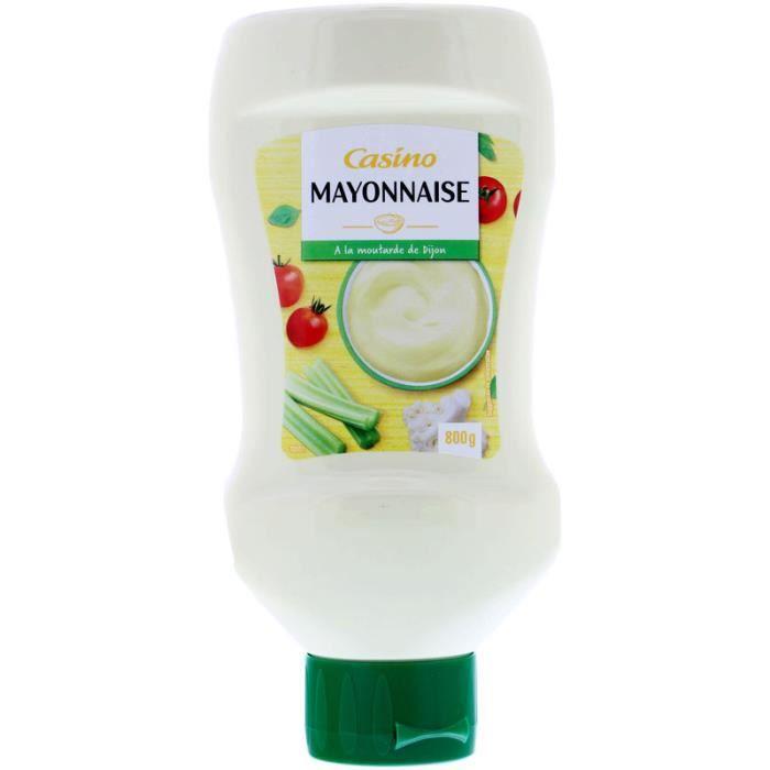 CASINO Mayonnaise à l'huile de colza et moutarde de Dijon - 800 g