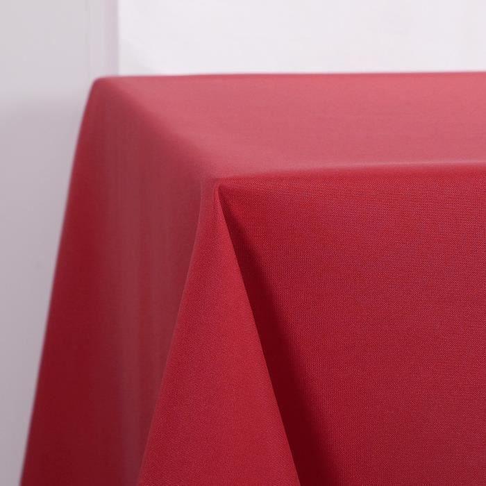 Deconovo Nappe Exterieur Decoration Waterproof pour Table Carré 150x150cm Rouge