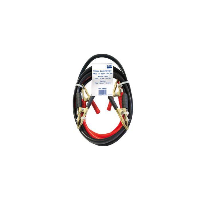 CABLES DEMARRAGE 700A, 2x4.5M, Pinces Bronze Di…