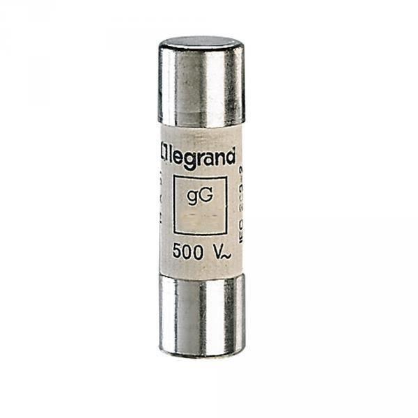 Legrand 014340 - Fusible cylindrique gG 40A 14x51mm 500V - Sans percuteur