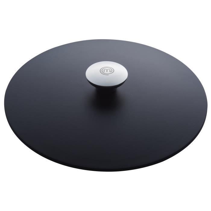 MasterChef couvercle 20 cm aluminium noir