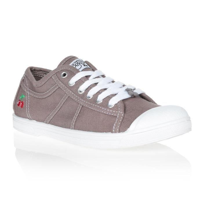 LE TEMPS DES CERISES Chaussures Basic 02 Charcoal Taupe/Blanc Femme